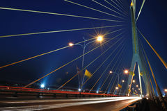 Rama 8 Bridge at night Stock Photo