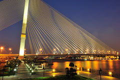 Rama 8 Bridge at night Stock Photos
