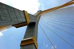 Rama8 Brücke, Chaopaya-Fluss, Bangkok, Thailand Stockfotografie