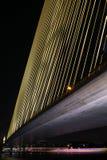 Rama 8 Brücke nachts Stockbild