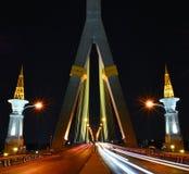 Rama 8 Bridżowy Bangkok Fotografia Royalty Free