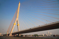 Rama8 bridge in Bangkok Stock Photography