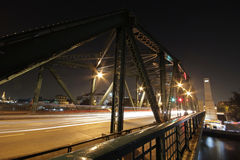 Rama 1 bridge in Bangkok, Thailand Royalty Free Stock Image