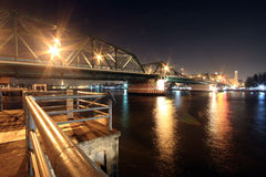 Rama 1 bridge in Bangkok, Thailand Stock Photos