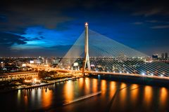 Rama 8 bridge stock images