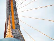The Rama 8 Bridge at daytime Royalty Free Stock Image