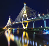 Rama 9 Bridge in the evening Royalty Free Stock Image
