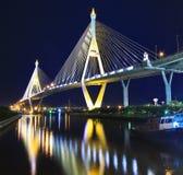 Rama 9 Bridge in the evening Royalty Free Stock Image