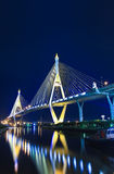 Rama 9 Bridge in the evening Royalty Free Stock Images