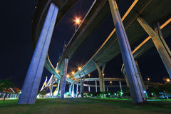 Rama 9 Bridge in the evening Stock Photo