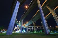 Rama 9 Bridge in the evening Stock Photo