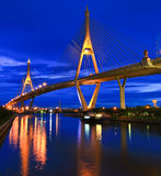 Rama 9 Bridge in the evening Stock Photos