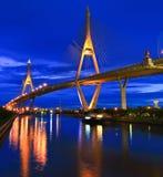 Rama 9 Bridge in the evening Stock Photos