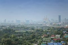 Rama Bridge- und Bangkok-Stadt-Ansicht Lizenzfreie Stockbilder