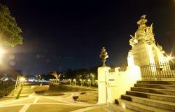 Rama 1 bro i Bangkok, Thailand Arkivbilder