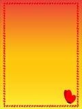 Rama czerwoni motyle na żółtym tle Obrazy Royalty Free