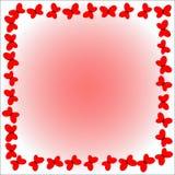 Rama czerwoni motyle na delikatnym tle Zdjęcia Stock