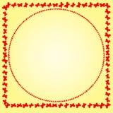 Rama czerwoni motyle na delikatnym tle Obraz Royalty Free