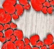 Rama czerwoni serca to walentynki dni Obraz Royalty Free