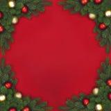 Rama de la esquina del abeto de la Navidad Foto de archivo libre de regalías