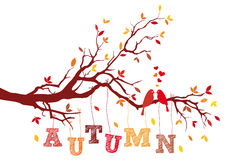 Rama de árbol del otoño, vector Imagen de archivo libre de regalías