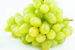 Rama de uvas verdes en blanco Fotografía de archivo