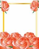 Rama dekorował kwiatu róże Zdjęcie Stock