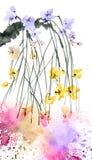 Rama del árbol de Sakura del flor Foto de archivo