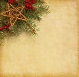 Rama del abeto con las decoraciones de la Navidad Fotos de archivo libres de regalías
