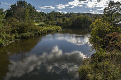 Rama del oeste de poco río Fotos de archivo libres de regalías