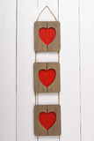 Rama dla fotografia kształta serce St Walentynka dzień Obrazy Royalty Free