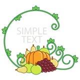 Rama dla inskrypcj i warzyw Zdjęcie Royalty Free