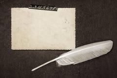 Rama dla notatek w Starym albumu Obraz Stock
