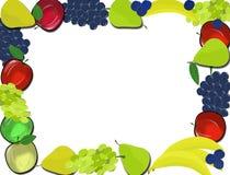 Rama dla sfałszowanych wizerunków lub fluff z przejrzystymi tło owoc na przejrzystym tle Obrazy Stock