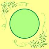 Rama dla teksta round, dekoracja z liśćmi Obraz Stock