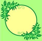 Rama dla teksta round, dekoracja z liśćmi Obrazy Royalty Free