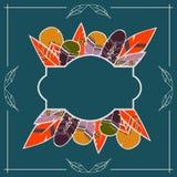Rama dla teksta z piórkami Zdjęcie Royalty Free