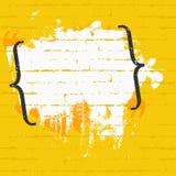 Rama dla wycena z ceglaną teksturą na ścianie Sztandaru projekta pojęcie ilustracja wektor