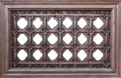 Rama drewniany kwiatu wzór Fotografia Stock