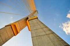 Rama eight  bridge in thailand. Rama eight the rope bridge in thailand Stock Photography