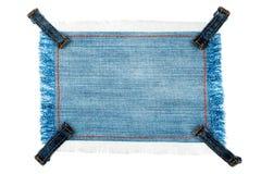 Rama, etykietka robić drelichowa tkanina z cztery patkami z przestrzenią dla twój teksta Obraz Royalty Free
