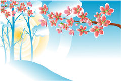 Primavera floreciente libre illustration