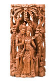 Rama and his wife Sita wood carving Royalty Free Stock Photo