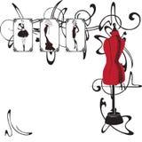 Rama i moda projekt Obrazy Royalty Free
