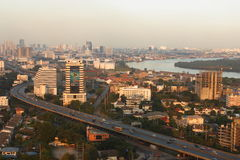 Rama III Highway. Bangkok Cityscape: Rama III highway and Chao Phraya River. Thailand Stock Photo