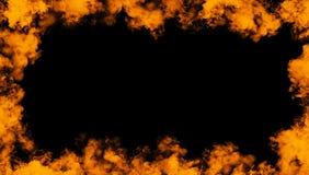 Rama istnego ogienia p?omieni oparzenie ruchu dym Rabatowe tekstur narzuty ilustracji