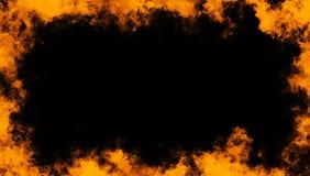 Rama istnego ogienia p?omieni oparzenie ruchu dym Rabatowe tekstur narzuty ilustracja wektor