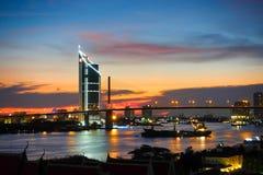 Rama IX bro i Thailand Arkivfoto