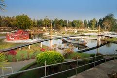 Rama IX zostający bridżowy w Mini Siam parku Obrazy Royalty Free