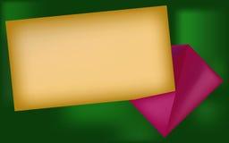 Rama jak koperta i papier Zdjęcie Stock